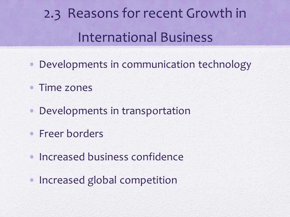 reasons for business growth pdf