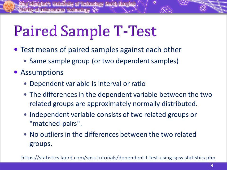 t test in statistics pdf