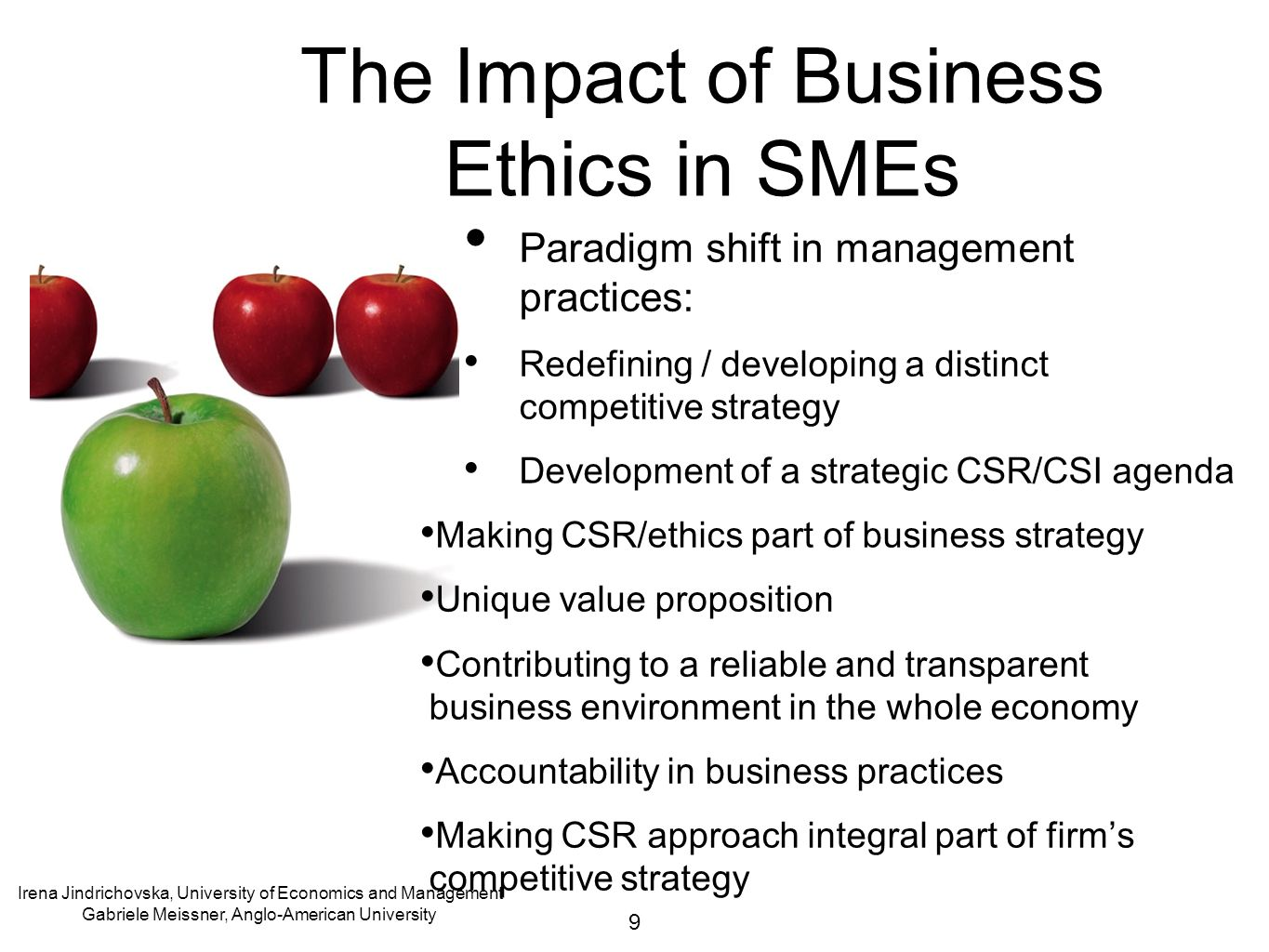 business ethics impact of the Ethics and performance: an assessment of the impact of business ethics on organisational performance within the financial services.