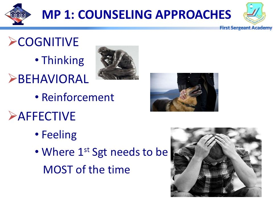 MP 1: COUNSELING APPROACHES
