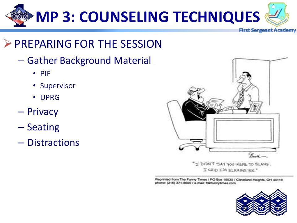 MP 3: COUNSELING TECHNIQUES