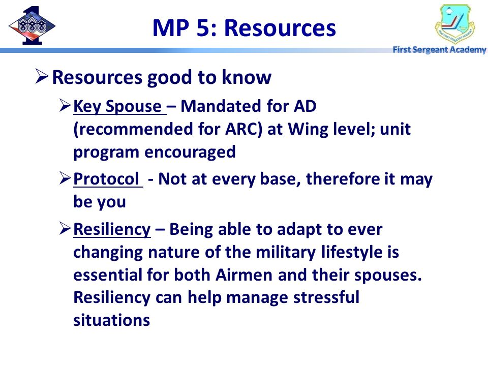 MP 5: Resources Resources good to know