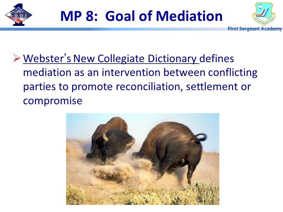 MP 8: Goal of Mediation