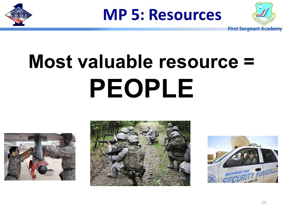 Most valuable resource = PEOPLE