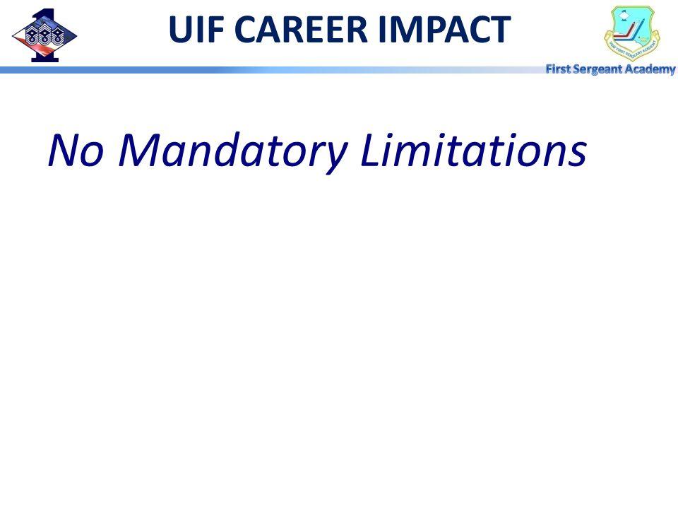 No Mandatory Limitations