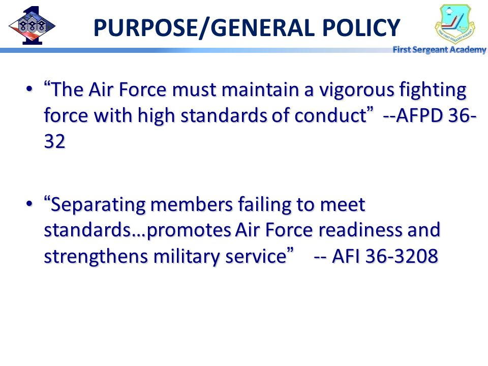 PURPOSE/GENERAL POLICY