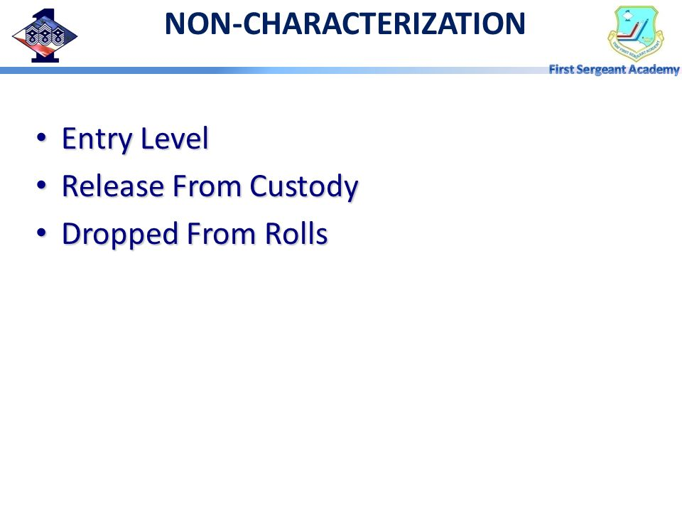 NON-CHARACTERIZATION
