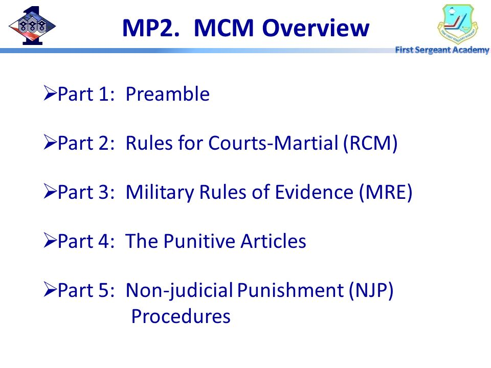 MP2. MCM Overview Part 1: Preamble