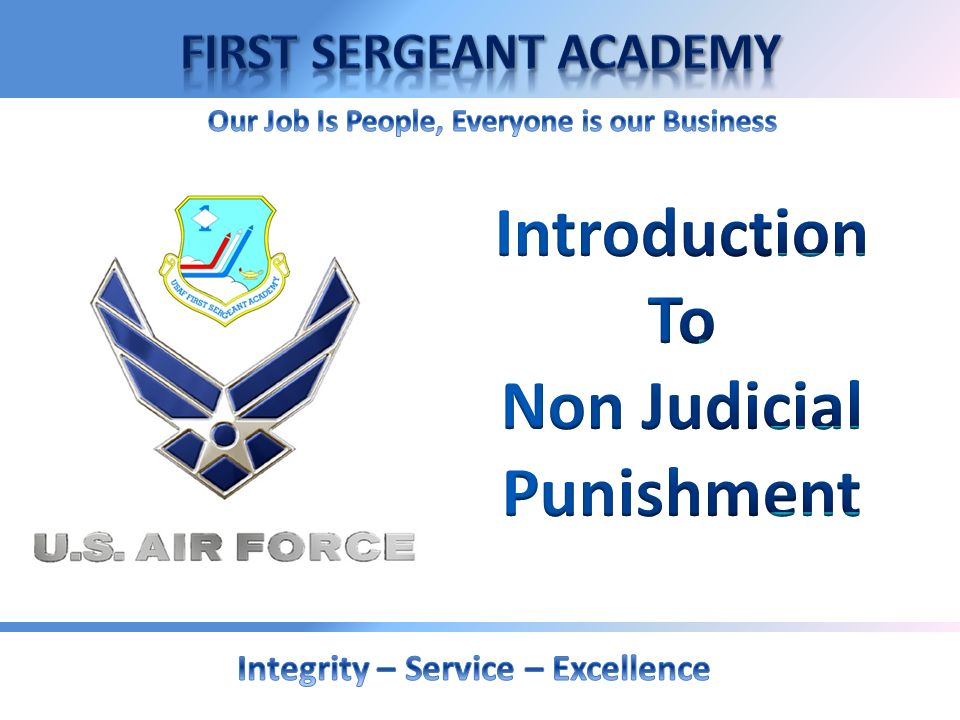 Introduction To Non Judicial Punishment