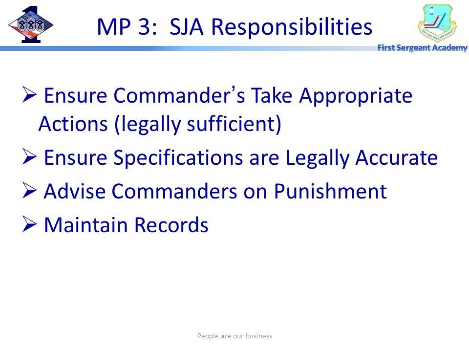 MP 3: SJA Responsibilities