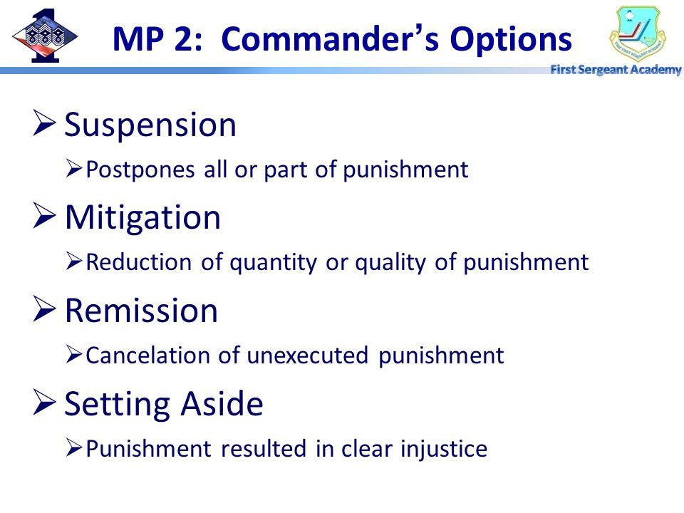 MP 2: Commander's Options