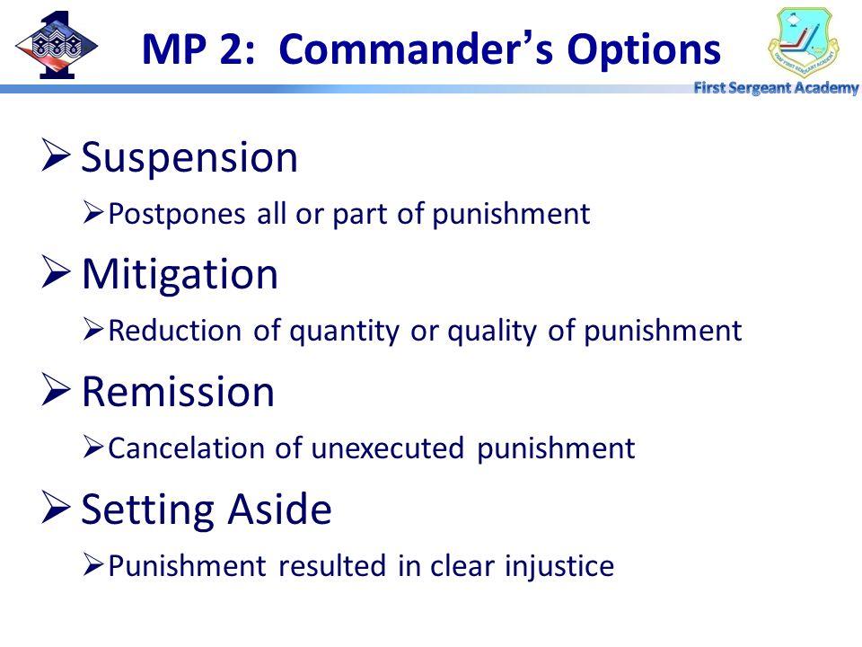 MP 2: Commander's Options