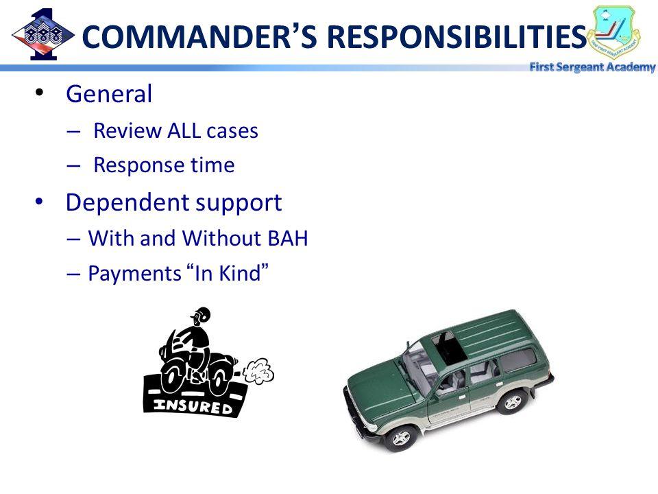 COMMANDER'S RESPONSIBILITIES