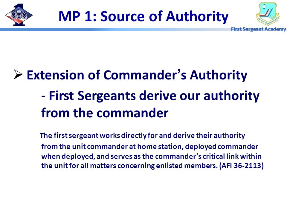 MP 1: Source of Authority