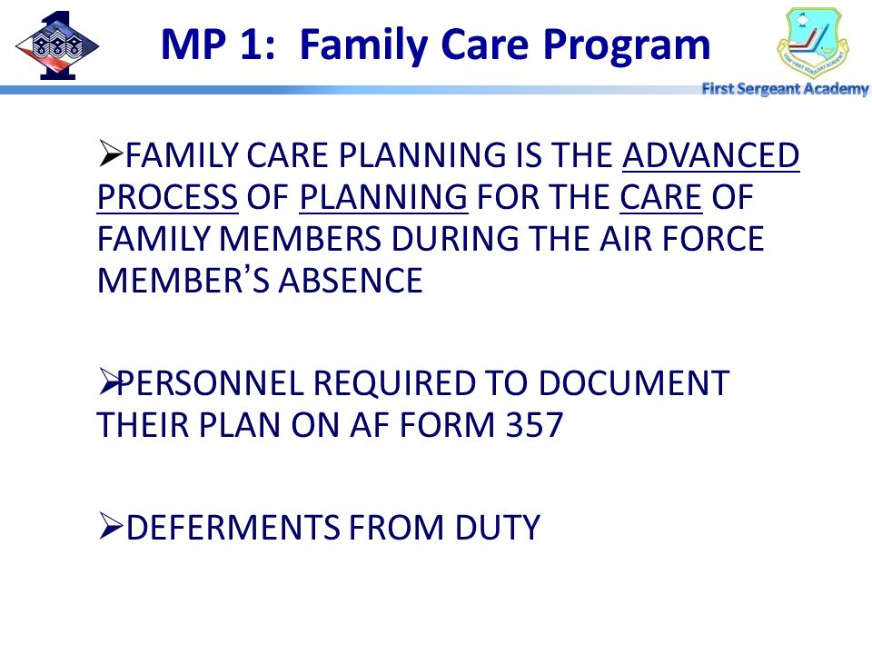 MP 1: Family Care Program