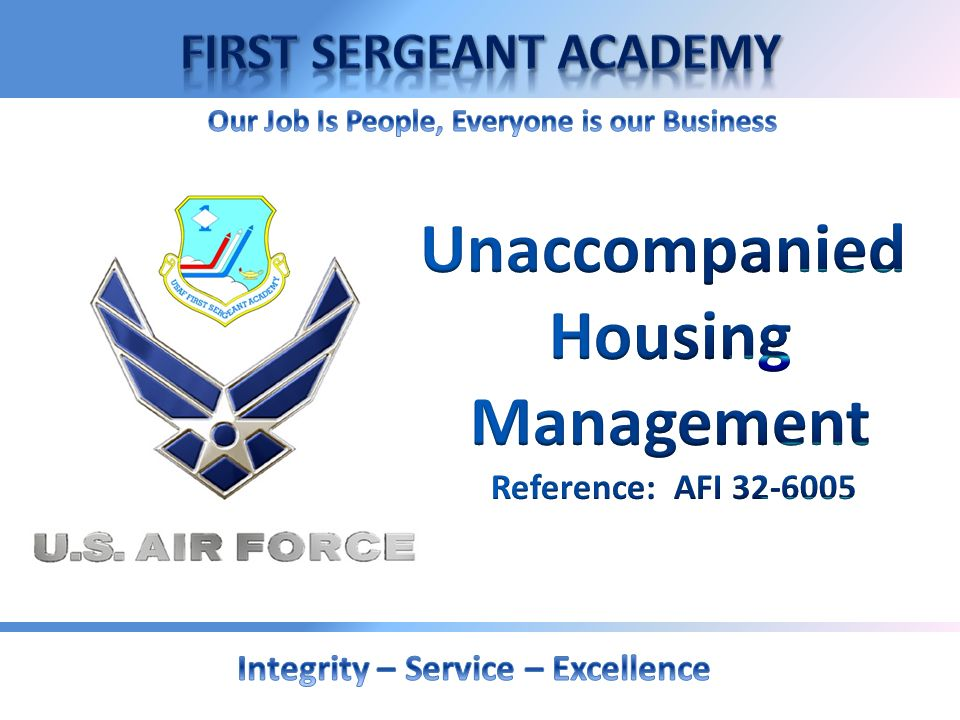 Unaccompanied Housing Management