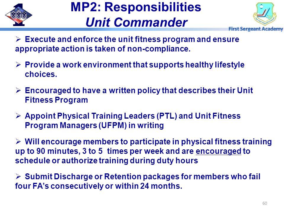 MP2: Responsibilities Unit Commander