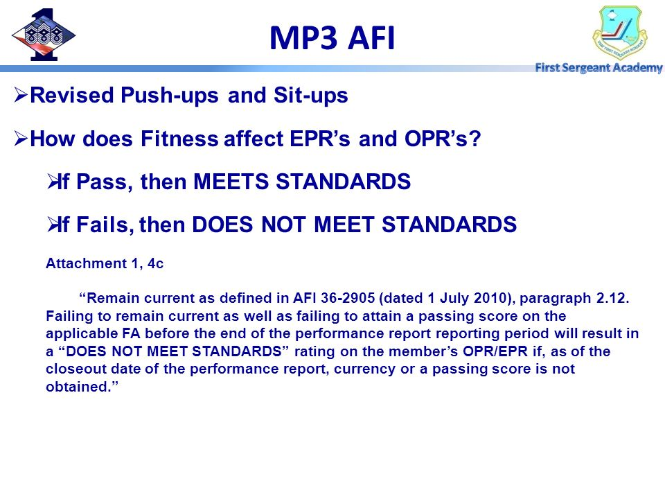 MP3 AFI Revised Push-ups and Sit-ups