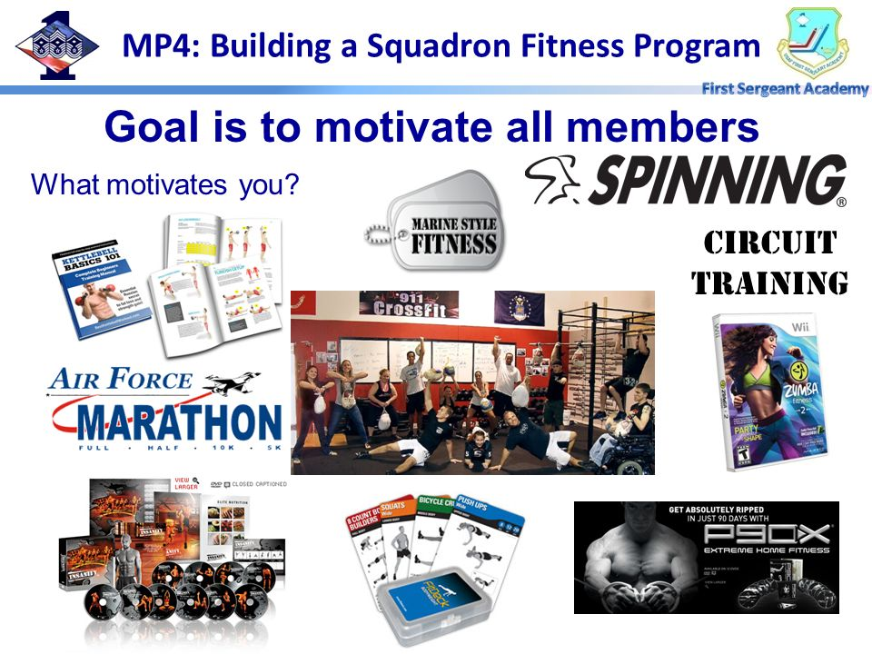 MP4: Building a Squadron Fitness Program