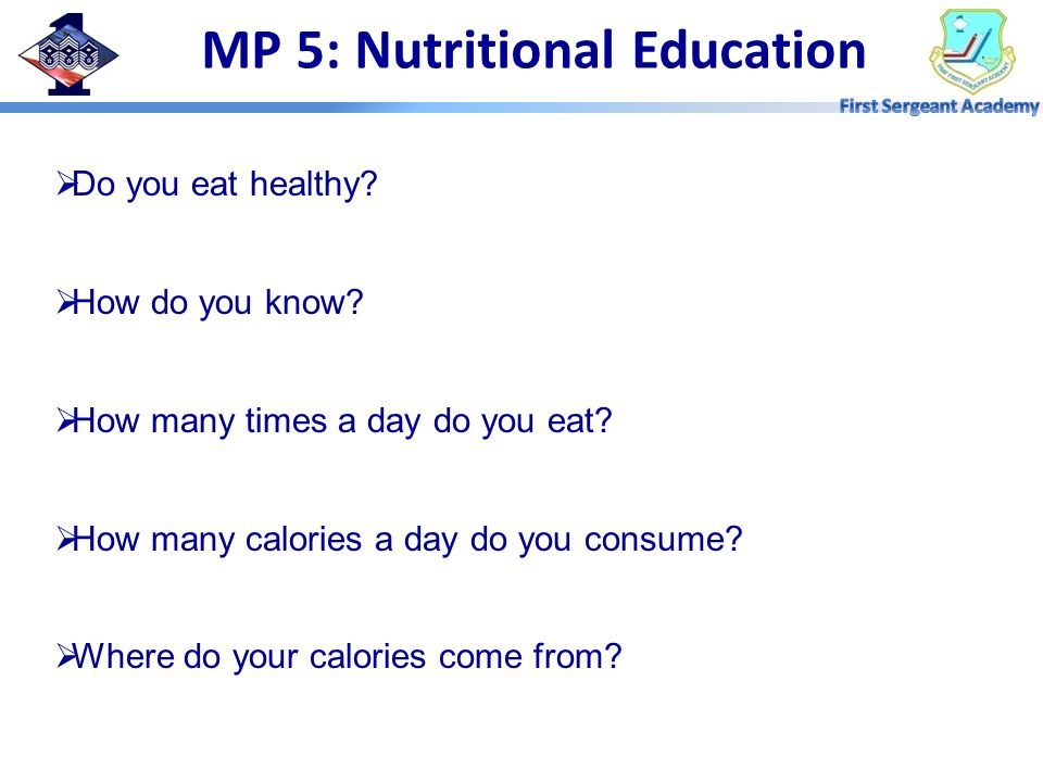 MP 5: Nutritional Education