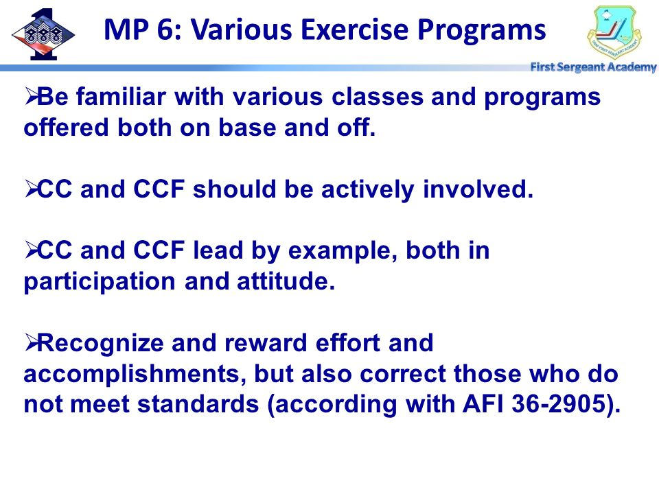 MP 6: Various Exercise Programs