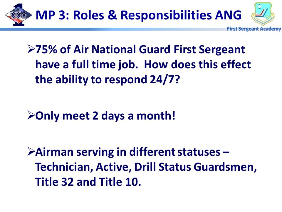 MP 3: Roles & Responsibilities ANG