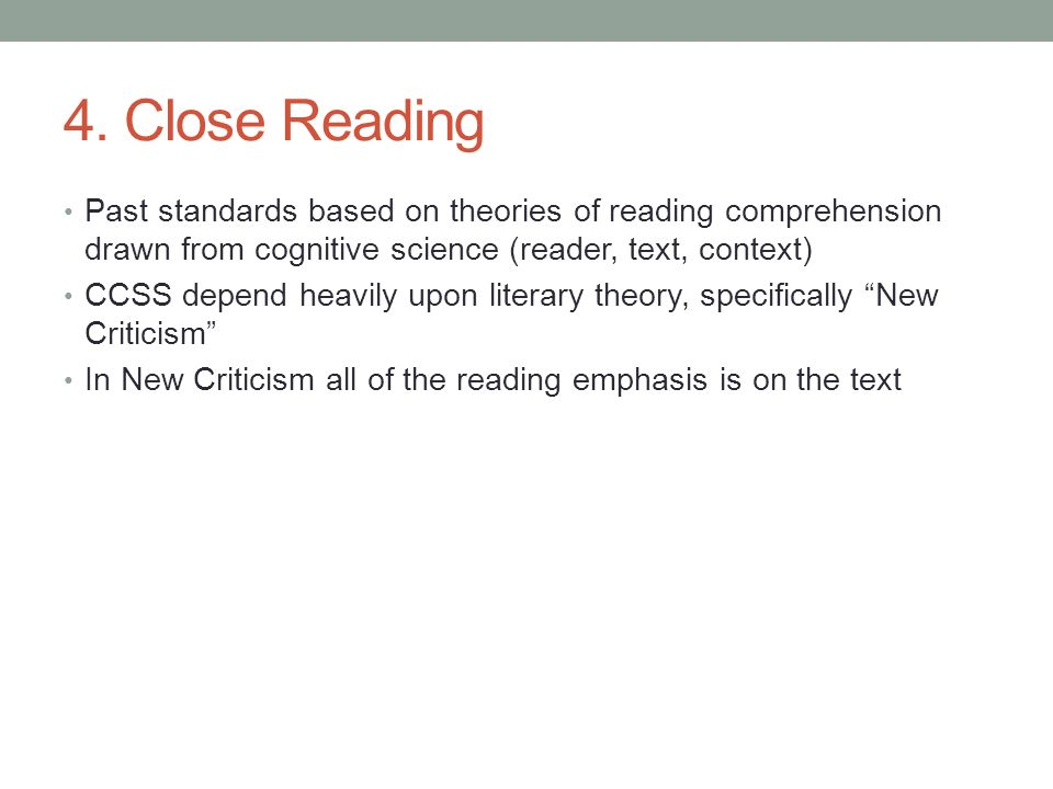 Reader Response versus New Criticism: Effects on Orientations to Literary Reading
