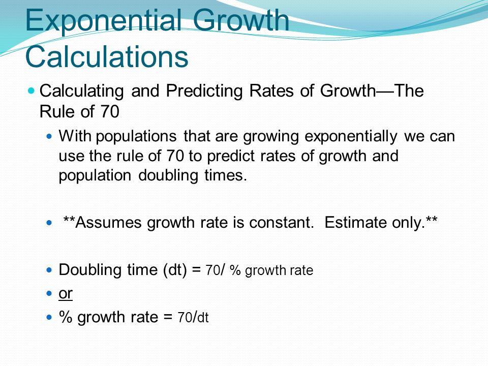 Exponential Growth Calculations