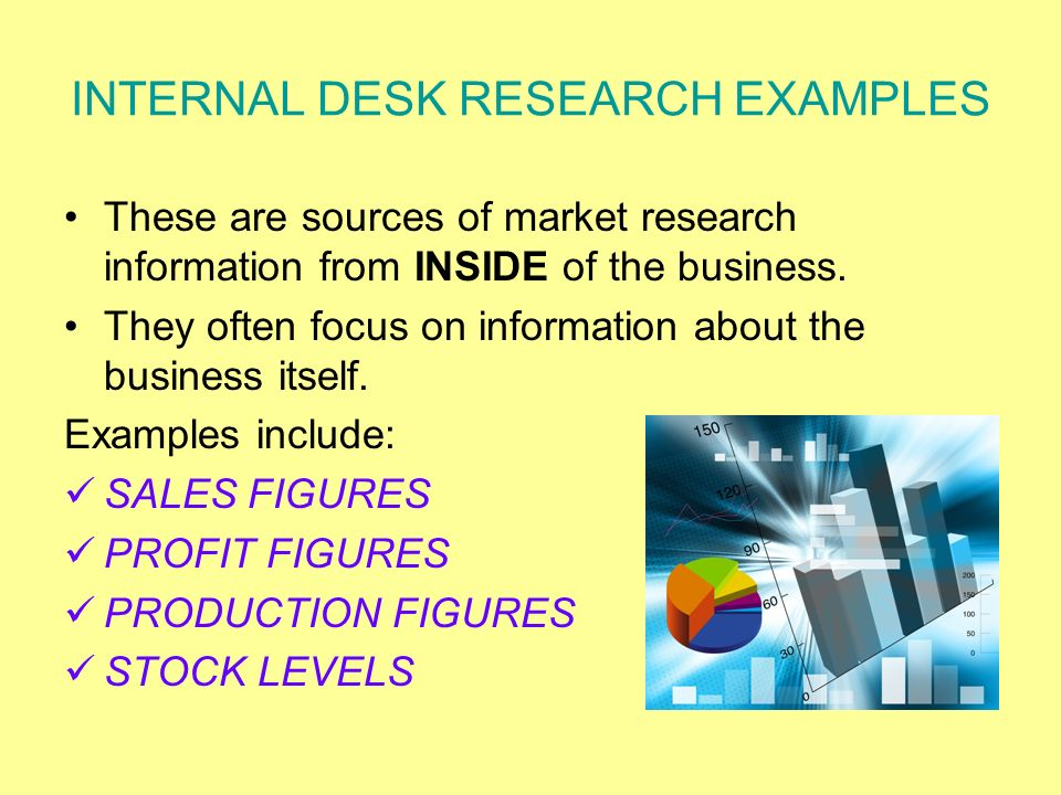 what is internal market research Market research is an essential component of a business plan for startup businesses - if market research does not indicate a demand for the product or service the .