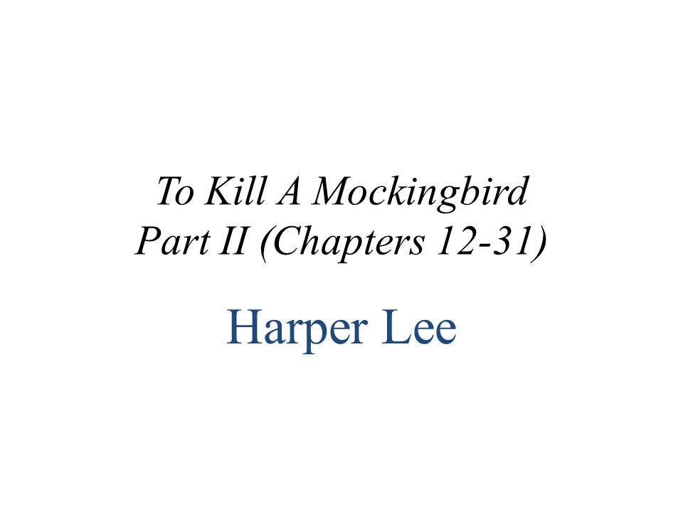to kill a mockingbird chapters 16 21 Get an answer for 'what is an analysis of the trial scenes of the novel, to kill a mockingbirdchapters 16-21' and find homework help for other to kill a mockingbird questions at enotes.