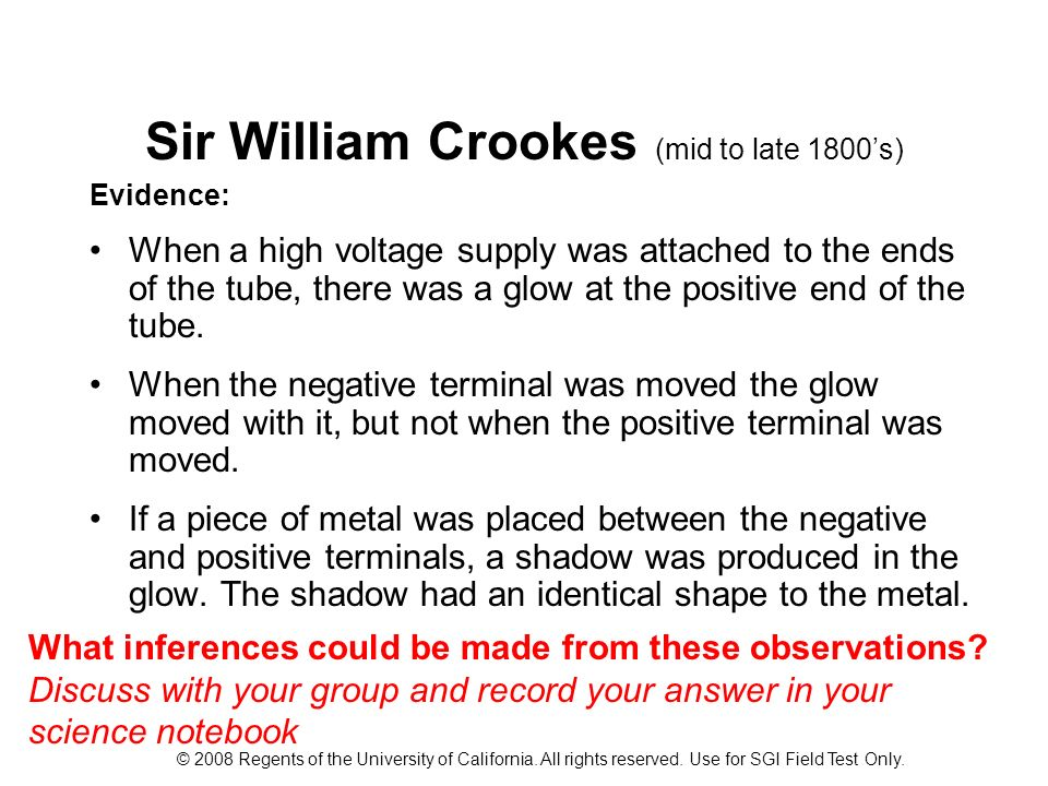 Sir William Crookes (mid to late 1800's)