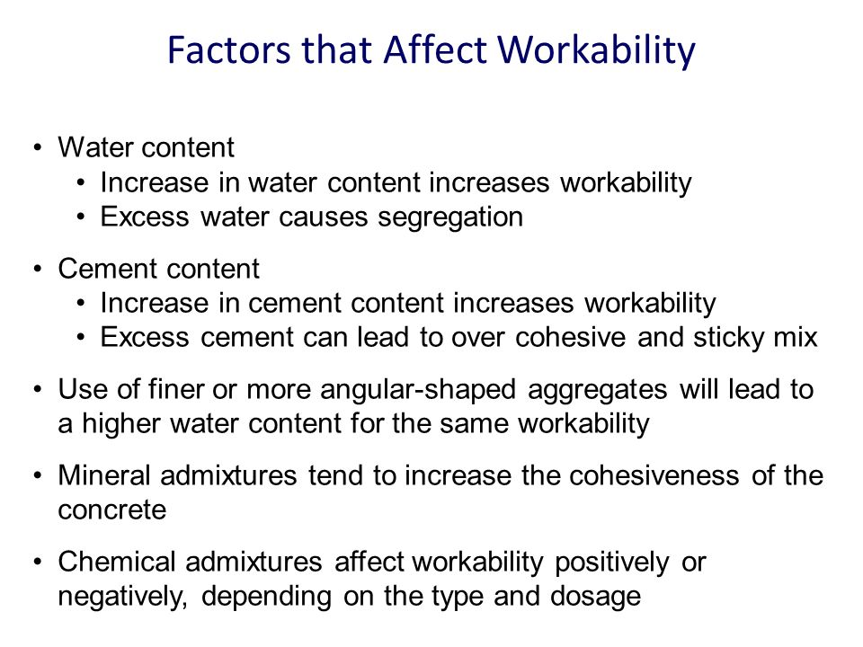 factors affecting strength of hardened concrete pdf
