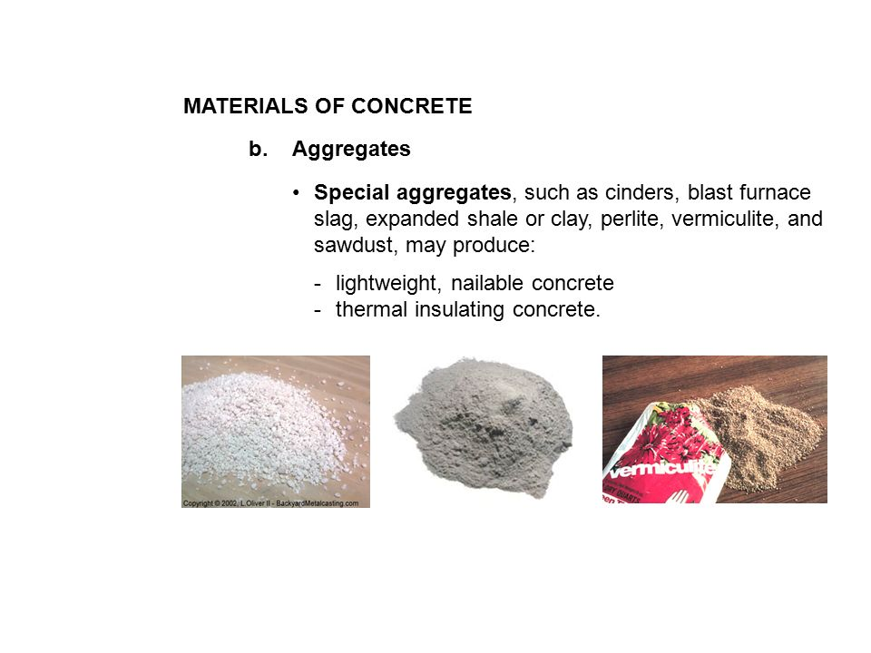 Blast Furnace Slag Aggregate Lightweight : Concrete is a proportioned mixture of cement