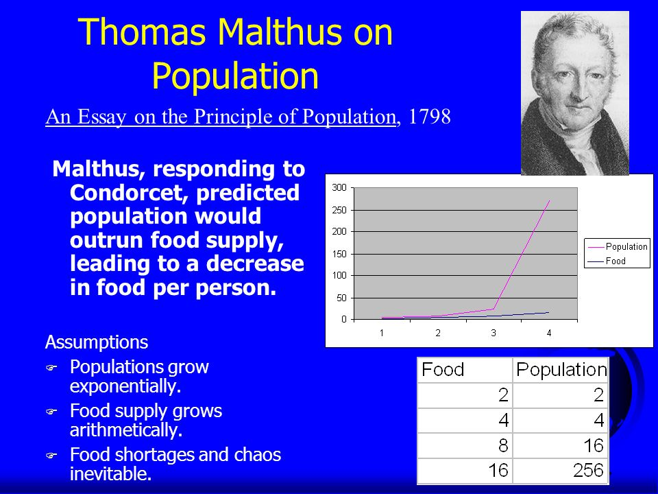 population problems as described in malthus an essay on the principle of population From thomas malthus' an essay on the principle of population are described by bruce as living in a state of misery and penury scarcely to be conceived we saw a number of women, he says, wrinkled and sun-burnt so as scarcely to appear human, wandering about under a burning sun with one and sometimes two children upon their.