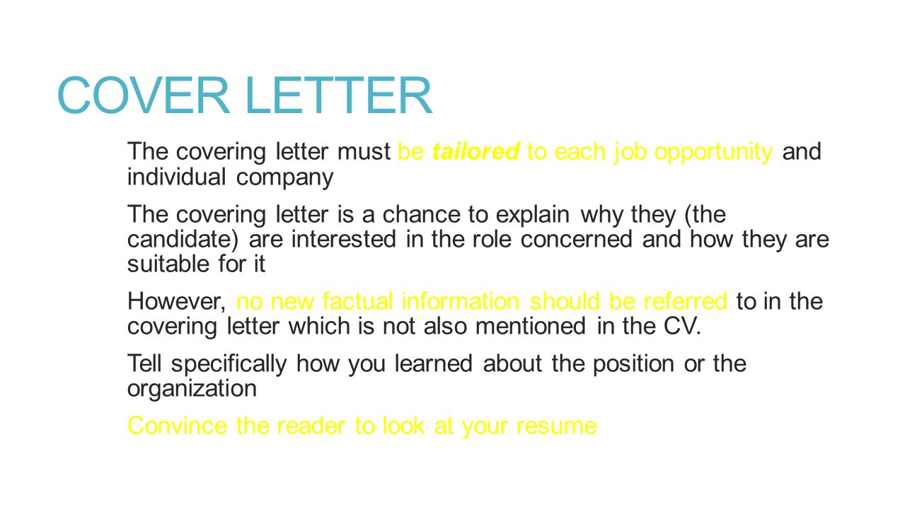 Sample Cover Letter amp CV for NGOs Job  NGONOTE