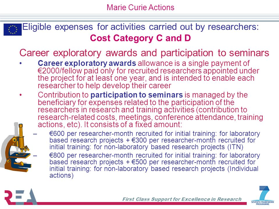 Career exploratory awards and participation to seminars