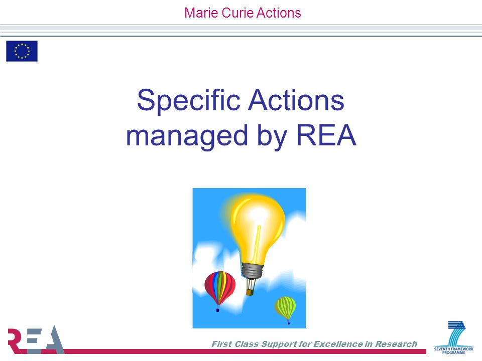 Specific Actions managed by REA