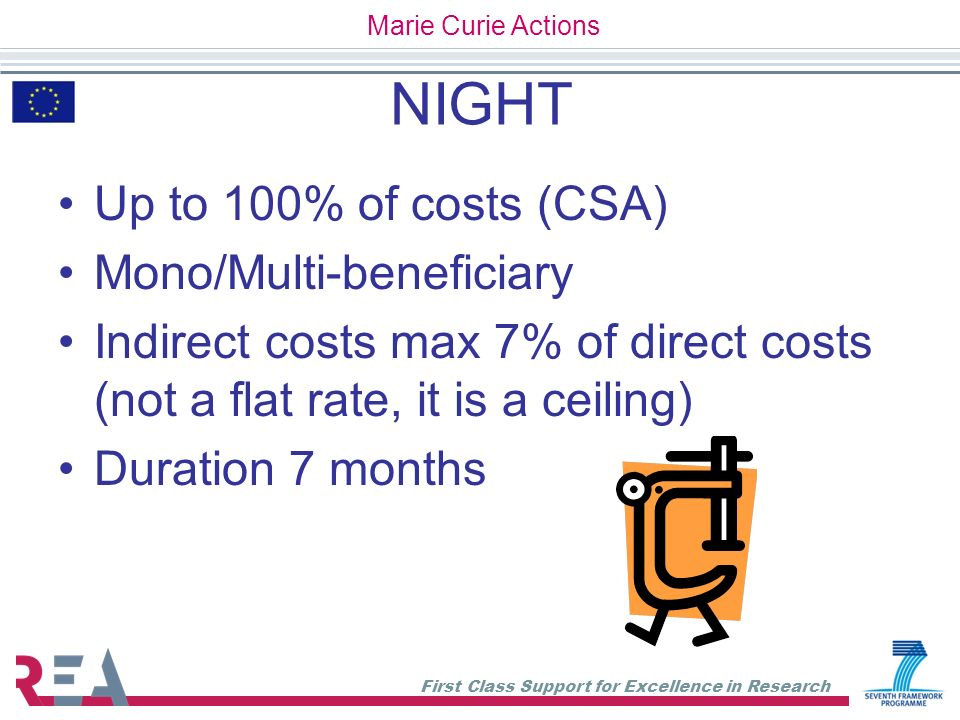 NIGHT Up to 100% of costs (CSA) Mono/Multi-beneficiary