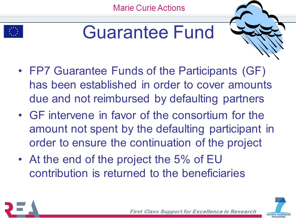 Marie Curie Actions Guarantee Fund.