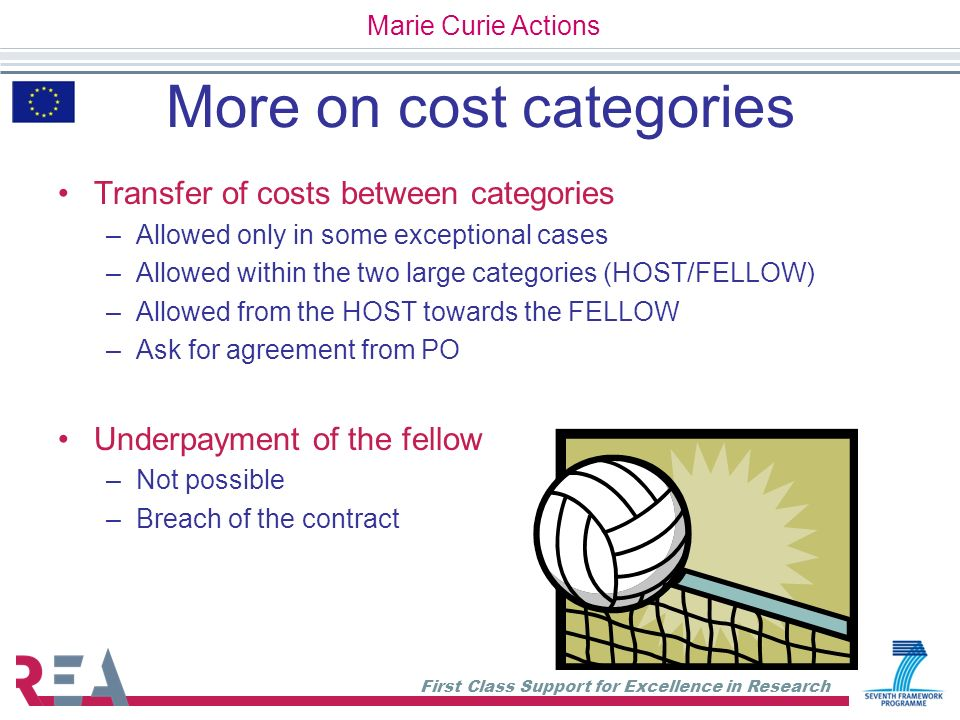 More on cost categories