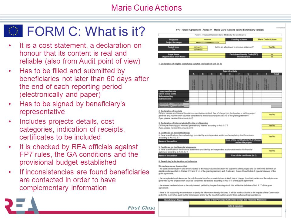 FORM C: What is it Marie Curie Actions
