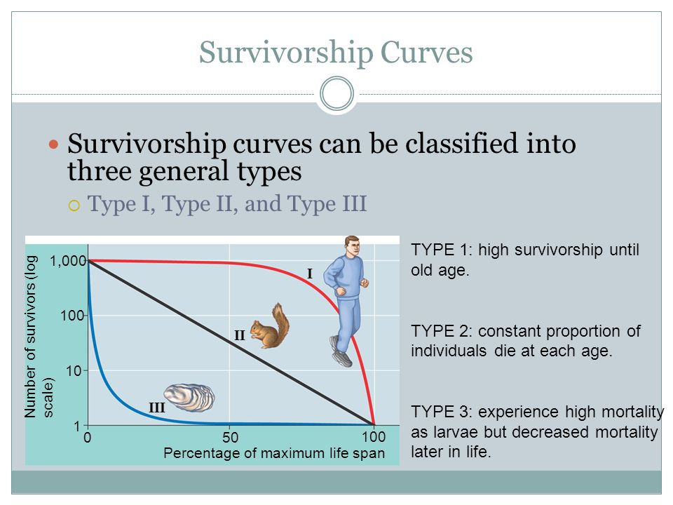 Population dynamics unit ii ppt video online download 5 survivorship curves survivorship curves can be classified into three general types ccuart Image collections
