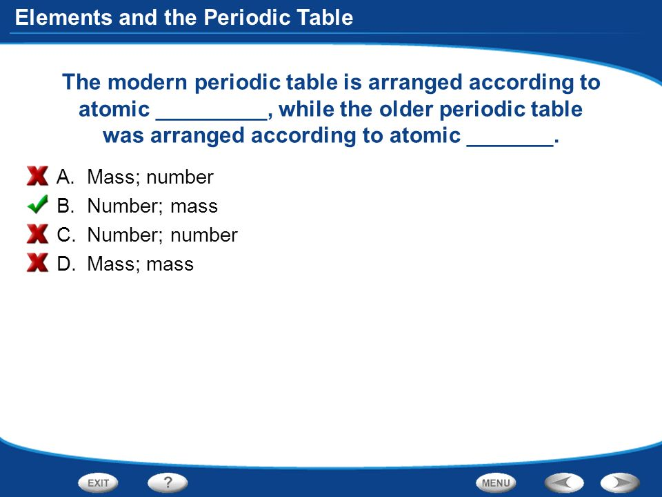 table of contents introduction to atoms organizing the elements periodic table the modern periodic table is arranged according - Modern Periodic Table Elements Arranged According