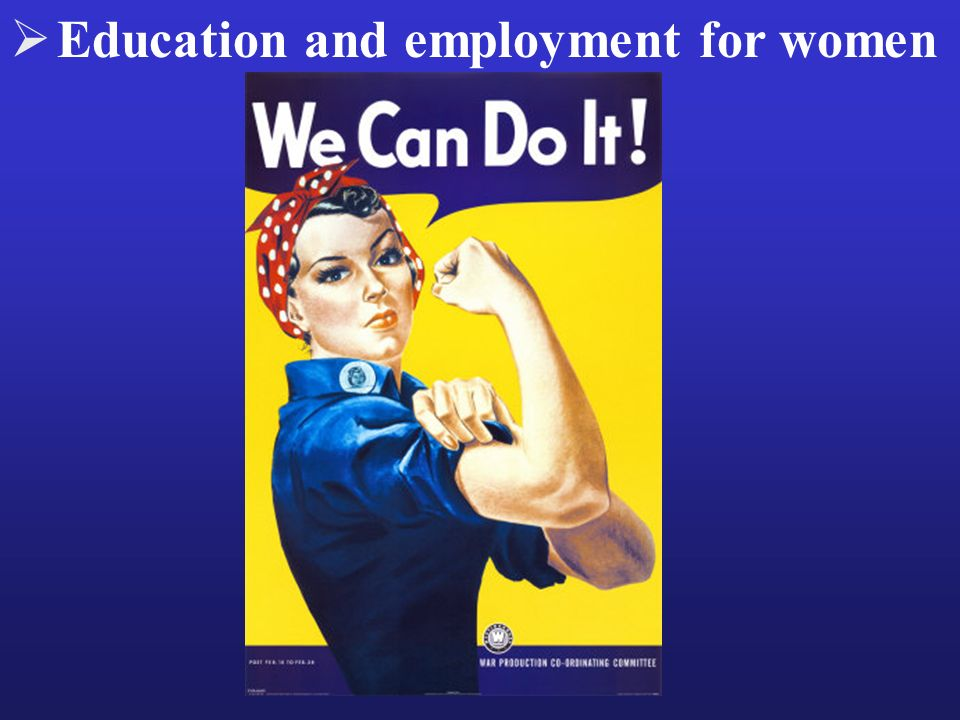 Education and employment for women