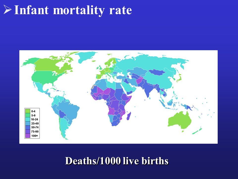 Infant mortality rate Deaths/1000 live births