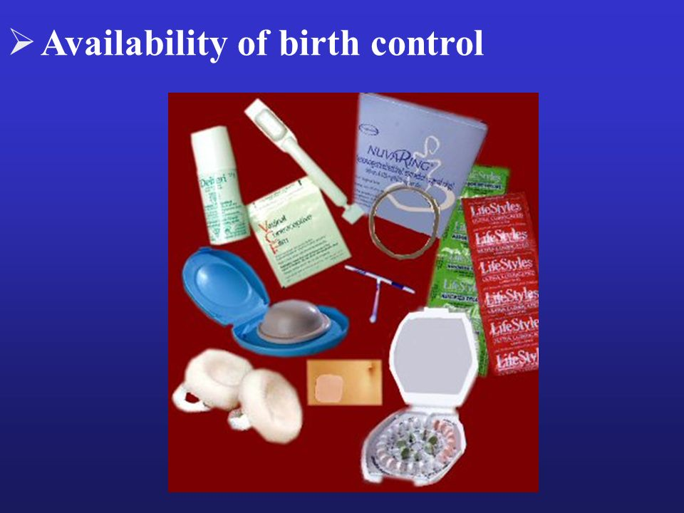 Availability of birth control