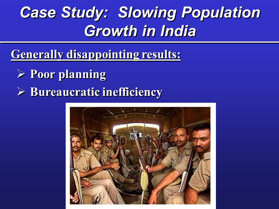 Case Study: Slowing Population Growth in India
