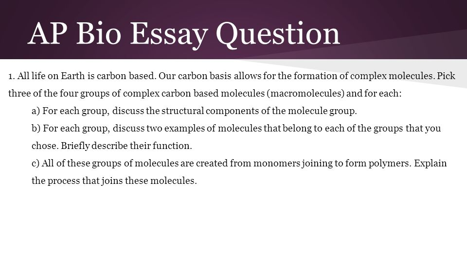 AP® Biology 2013 Free-Response Questions