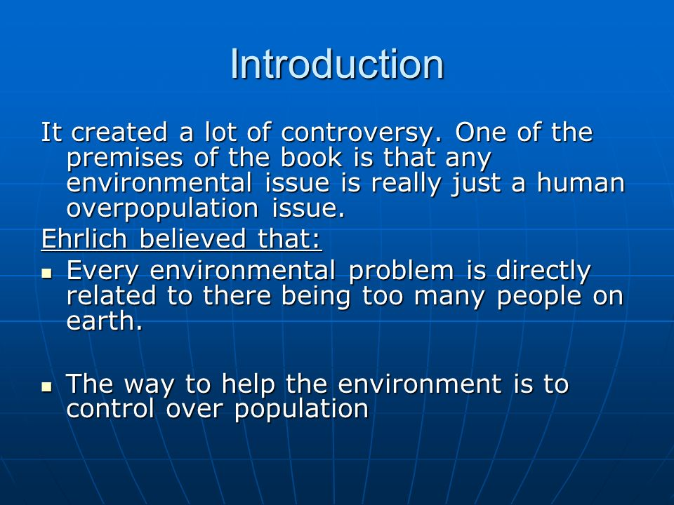 introduction of overpopulation