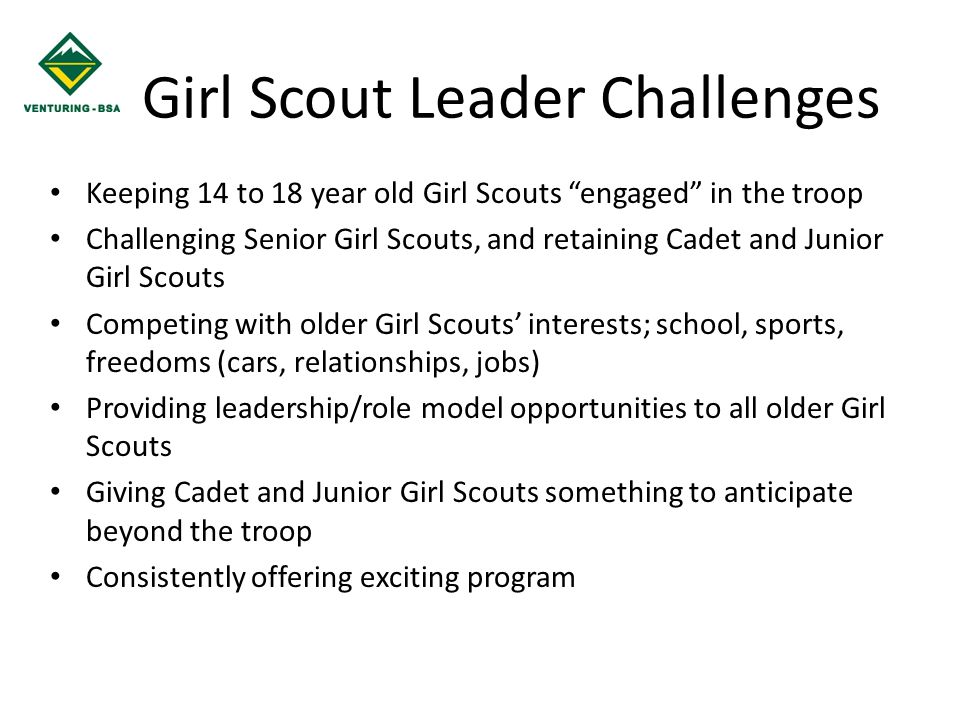 Girl Scout Leader Challenges